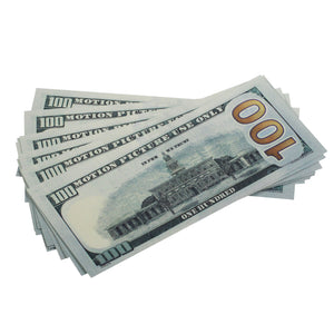 New Style $100 Full Print Prop Money Stack - Prop Money