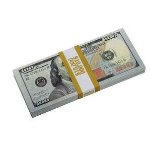 new series 100 full print stack prop money