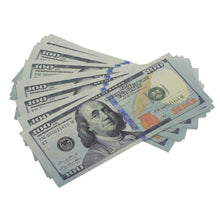 Load image into Gallery viewer, $3700 New Style Mixed (100) Bill Pack - Prop Movie Money