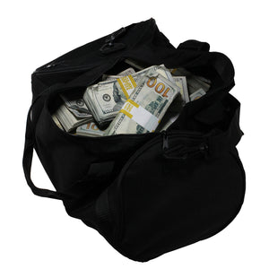 New Series $500,000 Aged Full Print Duffel Bag - Prop Money