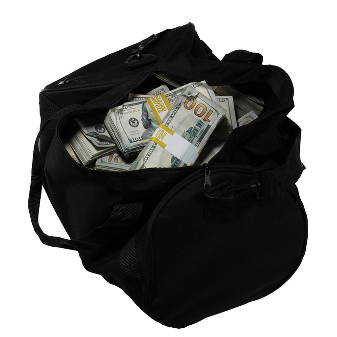 New Style $500,000 Aged Blank Filler Duffel Bag - Prop Movie Money
