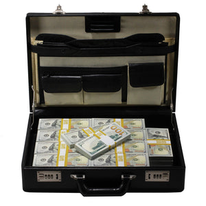 New Style $500,000 Blank Filler Prop Money Briefcase