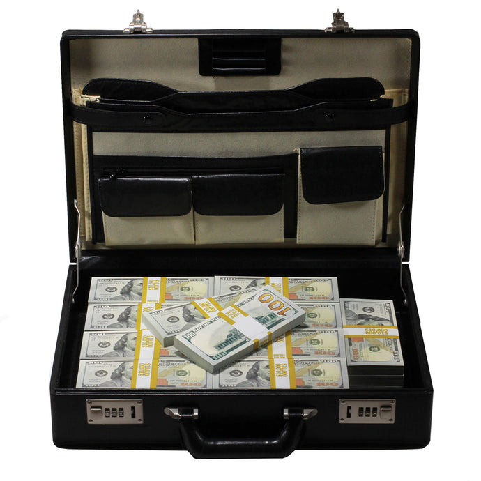 New Style $500,000 Blank Filler Prop Money Briefcase - Prop Money