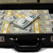 Load image into Gallery viewer, New Style $500,000 Blank Filler Prop Money Briefcase - Prop Movie Money