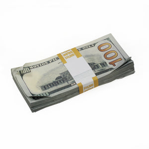 New Style $100s Aged $20,000 Full Print Package - Prop Money