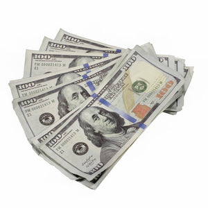 New Style $100s Aged $20,000 Full Print Package - Prop Movie Money