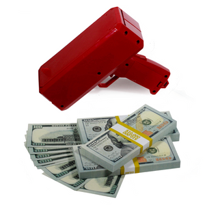 New Series $30,000 Full Print Stacks with Money Gun - Prop Money