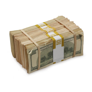 2000 Series $100s Aged $50,000 Blank Filler Prop Money Package - Prop Movie Money