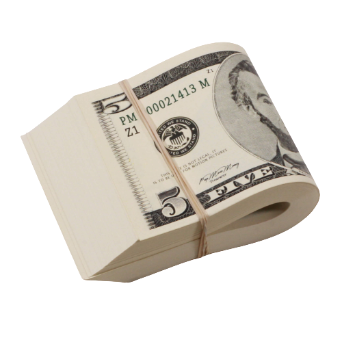 2000 Series $500 Full Print Fat Fold - Prop Money
