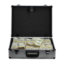 Load image into Gallery viewer, 2000 Series $750,000 Aged Full Print Stacks with Silver Aluminum Case - Prop Movie Money
