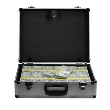 Load image into Gallery viewer, New Series $750,000 Full Print Stacks with Silver Aluminum Case - Prop Money
