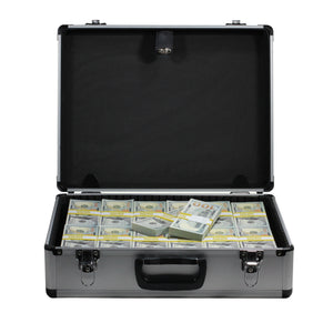 New Series $750,000 Full Print Stacks with Silver Aluminum Case