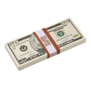 2000 Series $50 Full Print Prop Money Stack - Prop Money