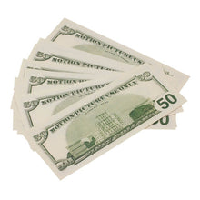 Load image into Gallery viewer, 2000 Series $50 Full Print Prop Money Stack - Prop Money