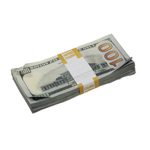 New Series $250,000 Aged Full Print Prop Money Bundle - Prop Movie Money