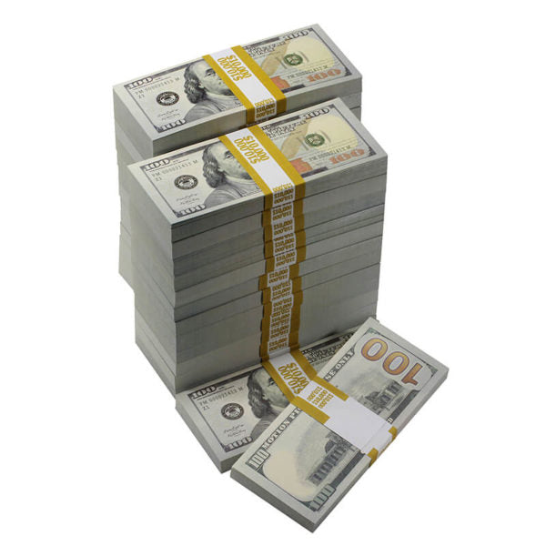 New Series $250,000 Full Print Prop Money Bundle