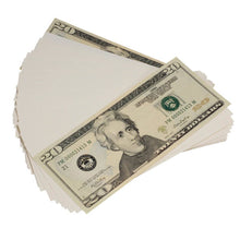 Load image into Gallery viewer, New Style $20s Blank Filler $2,000 Prop Money Stack - Prop Movie Money
