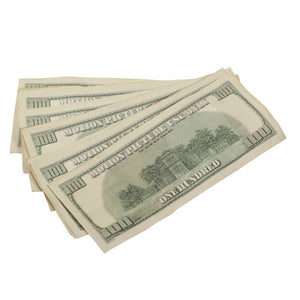 2000 Series $100s $20,000 Aged Full Print Prop Money Bundle