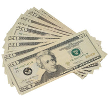 Load image into Gallery viewer, New Style $20s Full Print $10,000 Prop Money Package - Prop Money