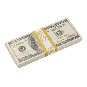2000 Series $50,000 Blank Filler Prop Money Bundle - Prop Movie Money