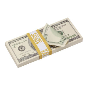 2000 Series $100s $20,000 Full Print Prop Money Package - Prop Money