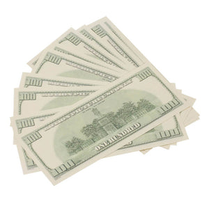 2000 Series $100s $20,000 Full Print Prop Money Package