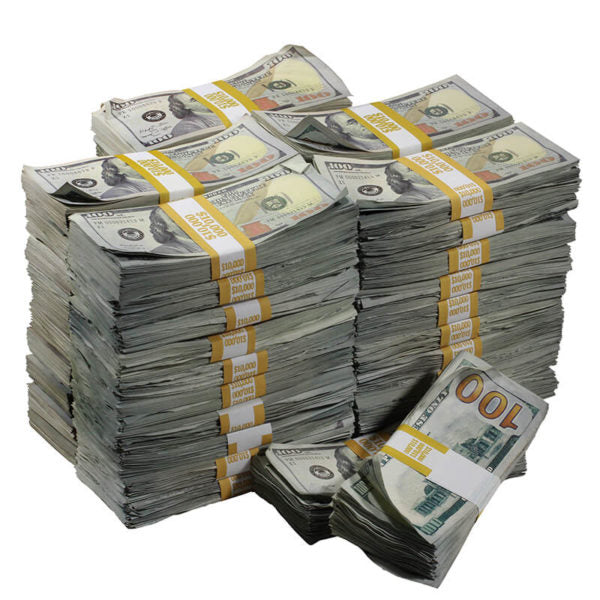 New Series $500,000 Aged Full Print Prop Money Bundle