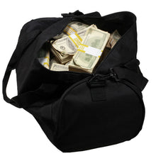 Load image into Gallery viewer, 2000 Series $500,000 Aged Blank Filler Duffel Bag - Prop Money