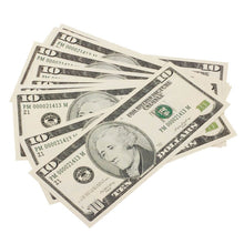 Load image into Gallery viewer, 2000 Series $10 Full Print Prop Money Stack - Prop Movie Money
