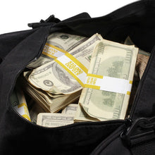 Load image into Gallery viewer, 2000 Series $500,000 Aged Blank Filler Duffel Bag - Prop Movie Money