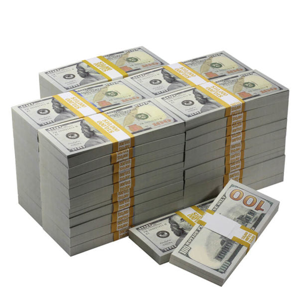 New Series $500,000 Full Print Prop Money Bundle