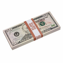 Load image into Gallery viewer, New Style $50 Full Print Prop Money Stack - Prop Movie Money
