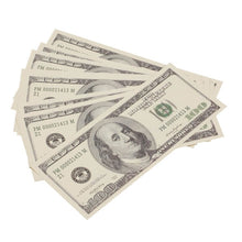 Load image into Gallery viewer, 2000 Series $100 Full Print Prop Money Stack - Prop Money