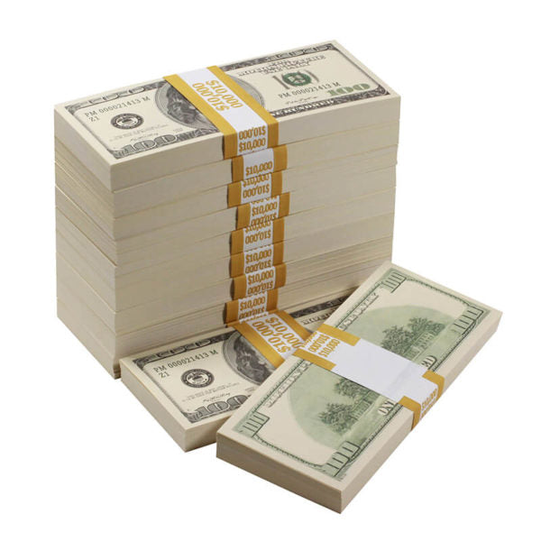 2000 Series $100,000  Blank Filler Prop Money Bundle - Prop Money