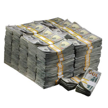 Load image into Gallery viewer, New Style $1,000,000 Aged Blank Filler Prop Money Bundle - Prop Money