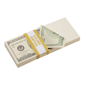 2000 Series $100,000  Blank Filler Prop Money Bundle - Prop Movie Money