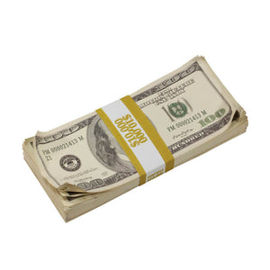 2000 Series $100,000 Aged Blank Filler Prop Money Bundle - Prop Money