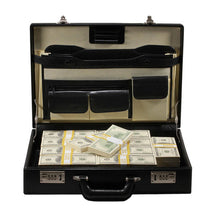 Load image into Gallery viewer, 2000 Series $500,000 Blank Filler Prop Money Briefcase