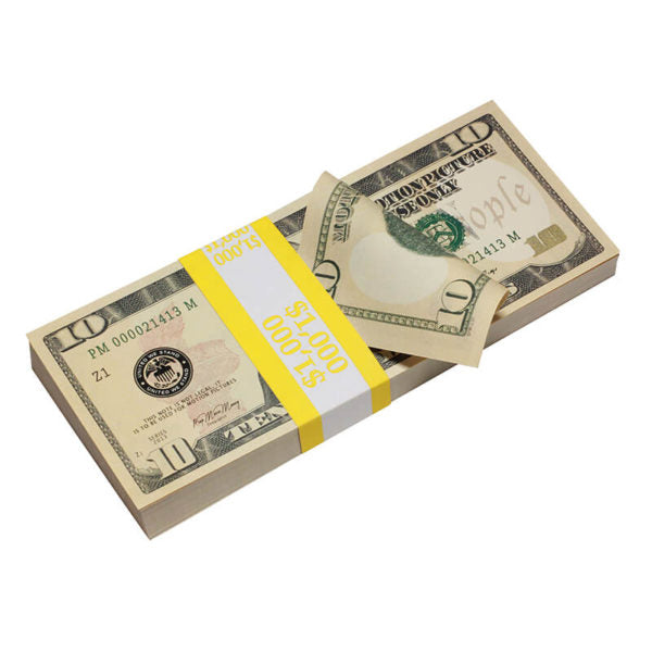New Style $10 Full Print Prop Money Stack