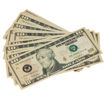 Load image into Gallery viewer, New Style $10 Full Print Prop Money Stack - Prop Money