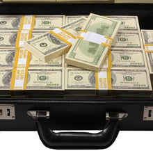 Load image into Gallery viewer, 2000 Series $500,000 Blank Filler Prop Money Briefcase - Prop Money