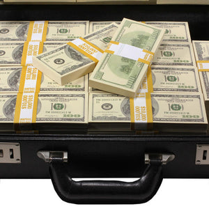 2000 Series $500,000 Blank Filler Prop Money Briefcase - Prop Money