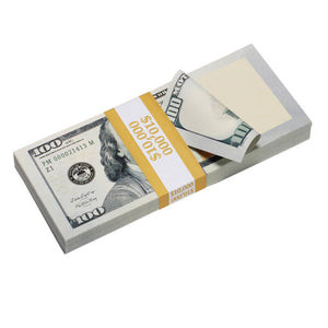 New Style $100,000 Blank Filler Prop Money Package - Prop Movie Money