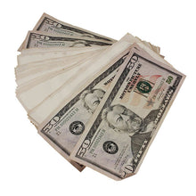 Load image into Gallery viewer, New Style $50s Aged $5,000 Blank Filler Stack - Prop Money
