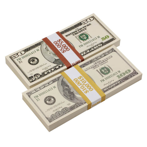 2000 Series Mix $15,000 Full Print Prop Money Package - Prop Movie Money
