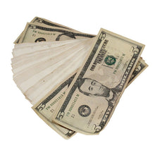 Load image into Gallery viewer, New Style $5s Aged $500 Blank Filler Stack - Prop Money