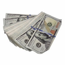Load image into Gallery viewer, New Series $100s Aged $100,000 Blank Filler Prop Money Package - Prop Movie Money