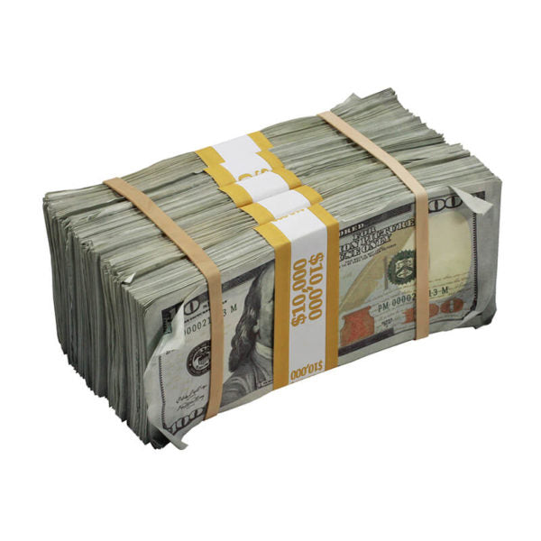 New Series $100s Aged $50,000 Blank Filler Prop Money Package - Prop Movie Money