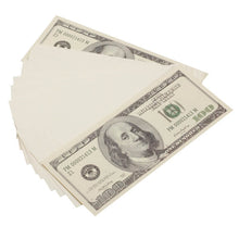 Load image into Gallery viewer, 2000 Series $100s Blank Filler $10,000 Prop Money Stack - Prop Money