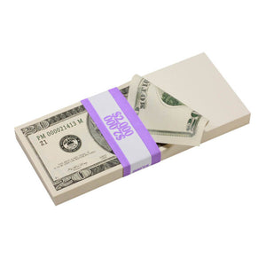 2000 Series Mix $17,000 Blank Filler Prop Money Bundle